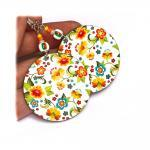 Cute girly Little Flowers - white y..