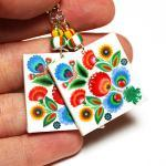 Rainbow Floral polish folk cut out ..