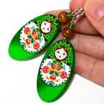 Matryoshka Russian doll Earrings - ..